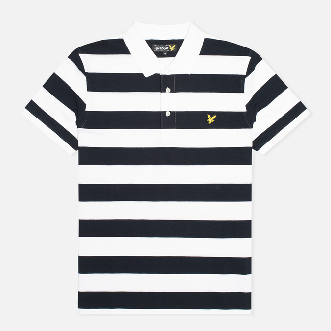 Мужское поло Lyle & Scott Block Stripe New Navy