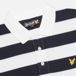 Мужское поло Lyle & Scott Block Stripe New Navy фото- 1