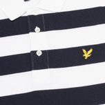Мужское поло Lyle & Scott Block Stripe New Navy фото- 2