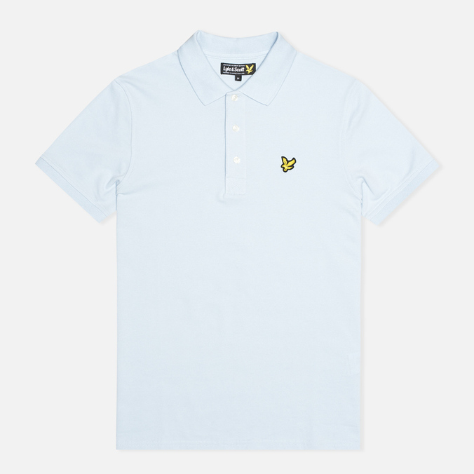 Мужское поло Lyle & Scott Plain Pique Blue Lagoon