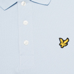 Мужское поло Lyle & Scott Plain Pique Blue Lagoon фото- 2