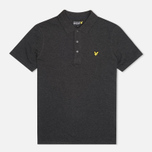 Мужское поло Lyle & Scott Plain Pique Charcoal Marl фото- 0