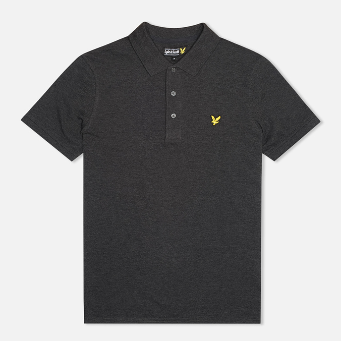 Мужское поло Lyle & Scott Plain Pique Charcoal Marl