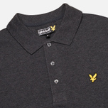 Мужское поло Lyle & Scott Plain Pique Charcoal Marl фото- 1