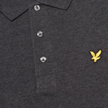 Мужское поло Lyle & Scott Plain Pique Charcoal Marl фото- 2