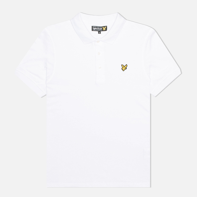 Мужское поло Lyle & Scott Plain Pique White