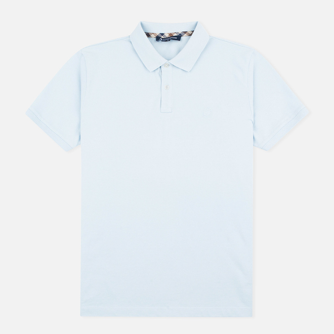 Aquascutum Hilton Cotton Men's Polo Light Blue