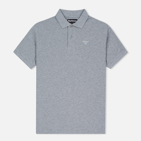 Barbour Sports Men's Polo Grey Marl
