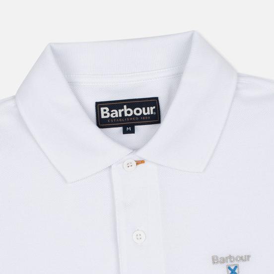 Мужское поло Barbour Sports White