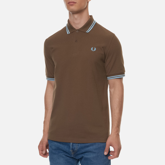 Мужское поло Fred Perry M12 Chocolate/Ice/Ice