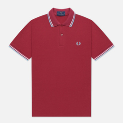 Мужское поло Fred Perry M12 Maroon/White/Ice