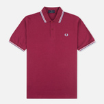 Мужское поло Fred Perry M12 Maroon/White/Ice фото- 0