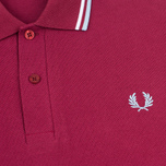Мужское поло Fred Perry M12 Maroon/White/Ice фото- 2