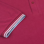 Мужское поло Fred Perry M12 Maroon/White/Ice фото- 3
