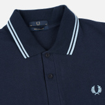 Мужское поло Fred Perry M12 Navy/Ice/Ice фото- 1