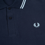 Мужское поло Fred Perry M12 Navy/Ice/Ice фото- 2
