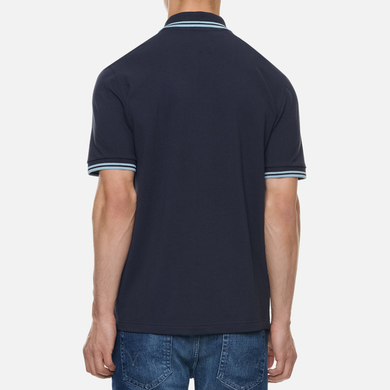 Мужское поло Fred Perry M12 Navy/Ice/Ice