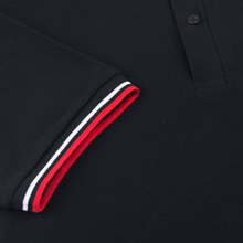 Мужское поло Fred Perry M12 Black/White/Bright Red фото- 3