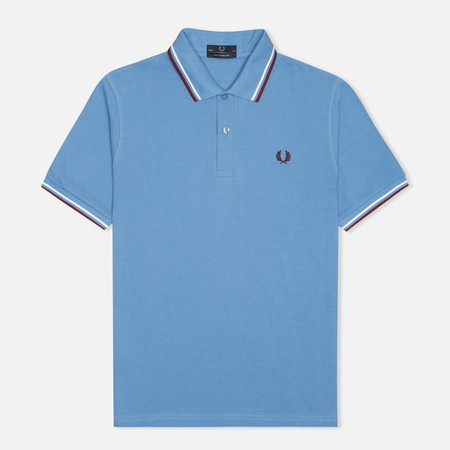 Мужское поло Fred Perry M12 Mid Blue/White/Maroon