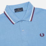 Мужское поло Fred Perry M12 Mid Blue/White/Maroon фото- 1