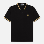 Мужское поло Fred Perry Laurel M2 Single Tipped Black фото- 0