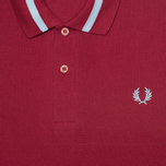 Fred Perry Laurel M2 Single Tipped Men's Polo Maroon photo- 2