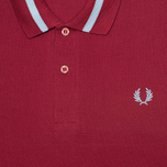 Мужское поло Fred Perry Laurel M2 Single Tipped Maroon фото- 2