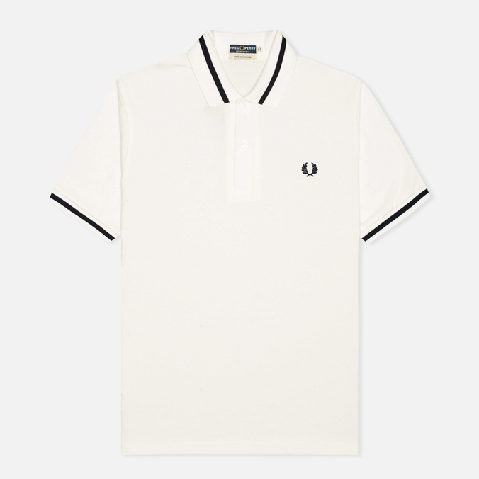 Мужское поло Fred Perry Laurel M2 Single Tipped Snow White