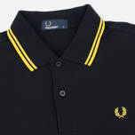 Мужское поло Fred Perry M1200 Twin Tipped Black/New Yellow фото- 1