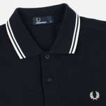 Мужское поло Fred Perry M1200 Twin Tipped Black/Porcelain фото- 1