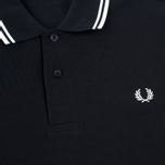 Мужское поло Fred Perry M1200 Twin Tipped Black/Porcelain фото- 2
