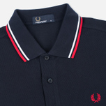 Мужское поло Fred Perry M1200 Twin Tipped Navy/White/Red фото- 1
