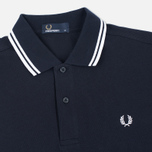 Мужское поло Fred Perry M1200 Twin Tipped Navy/White/White фото- 1