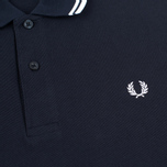 Мужское поло Fred Perry M1200 Twin Tipped Navy/White/White фото- 2