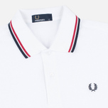Мужское поло Fred Perry M1200 Twin Tipped White/Red/Navy фото- 1