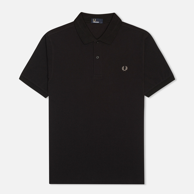 Мужское поло Fred Perry M3000 Plain Black/Chrome