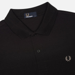 Мужское поло Fred Perry M3000 Plain Black/Chrome фото- 1