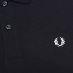 Мужское поло Fred Perry M3000 Plain Navy/White фото- 2