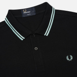 Мужское поло Fred Perry M3600 Twin Tipped Black/Del La Mar фото- 1