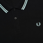 Мужское поло Fred Perry M3600 Twin Tipped Black/Del La Mar фото- 2