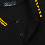 Мужское поло Fred Perry M3600 Twin Tipped Black/Bright Yellow/Bright Yellow фото- 3