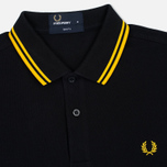 Мужское поло Fred Perry M3600 Twin Tipped Black/New Yellow фото- 1