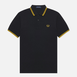 Мужское поло Fred Perry M3600 Twin Tipped Black/Bright Yellow/Bright Yellow