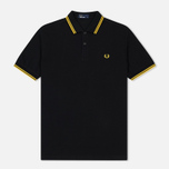 Мужское поло Fred Perry M3600 Twin Tipped Black/Bright Yellow/Bright Yellow фото- 0