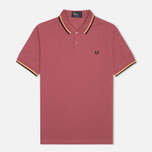 Мужское поло Fred Perry M3600 Twin Tipped Crushed Berry фото- 0
