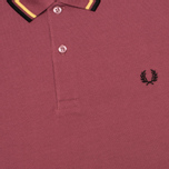 Мужское поло Fred Perry M3600 Twin Tipped Crushed Berry фото- 2