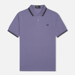 Мужское поло Fred Perry M3600 Twin Tipped Dark Lavender фото- 0