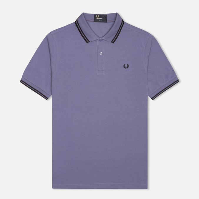 Мужское поло Fred Perry M3600 Twin Tipped Dark Lavender