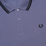 Мужское поло Fred Perry M3600 Twin Tipped Dark Lavender фото- 2