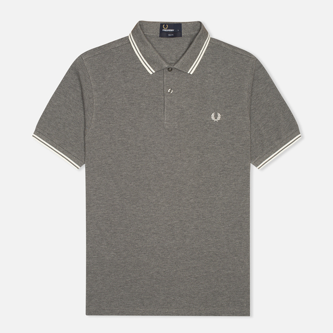 Мужское поло Fred Perry M3600 Twin Tipped Grey Marl
